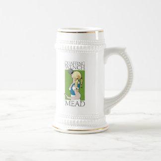 Aguamiel Stein de la moza de Quaffing Jarra De Cerveza