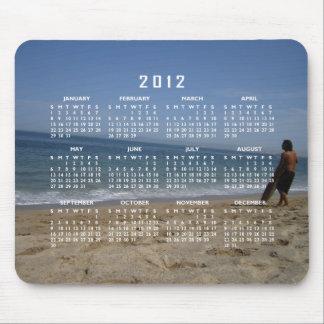 Aguardar la onda siguiente Calendario 2012 Alfombrillas De Raton