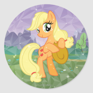 Aguardiente de manzana pegatina redonda