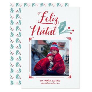 Aguarela & Caligrafia | Feliz Natal Card