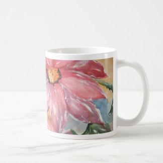 aguarela flores classic white coffee mug