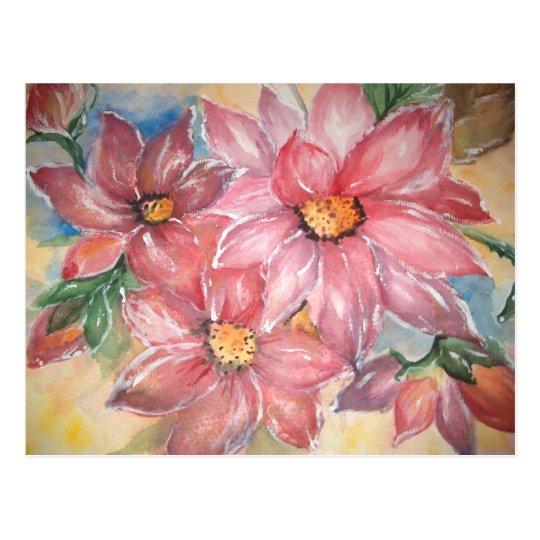 aguarela Flores Tarjetas Postales