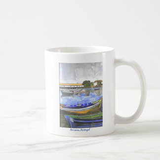 Aguarela, landscape of the Barreiro, Portugal Classic White Coffee Mug