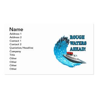 Aguas ásperas a continuación tarjetas de visita