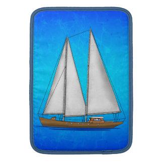 Aguas azules del velero fundas MacBook