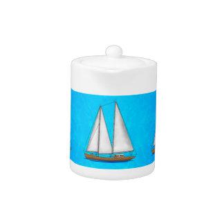 Aguas azules del velero