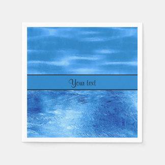 Aguas azules servilletas de papel