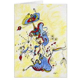 Aguas azules tarjeta de felicitación