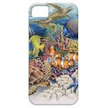 Aguas coralinas con los pescados tropicales iPhone 5 protectores