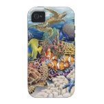 Aguas coralinas con los pescados tropicales vibe iPhone 4 fundas