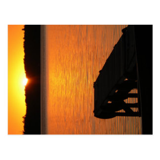 Aguas de Manitowish, WI (lago rice salvaje) Tarjeta Postal