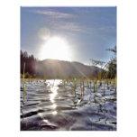 Aguas de Peacefull en el lago trout Membrete Personalizado