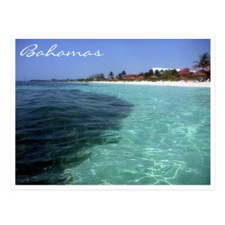 aguas del cristal de Bahamas Postales