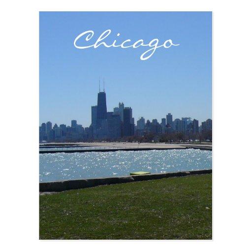 aguas del horizonte de Chicago Tarjetas Postales