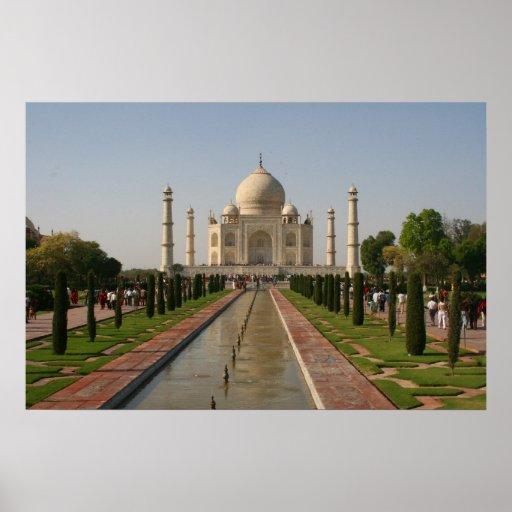 aguas del Taj Mahal Póster