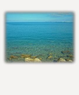 Aguas del verde azul de Bermudas Polera