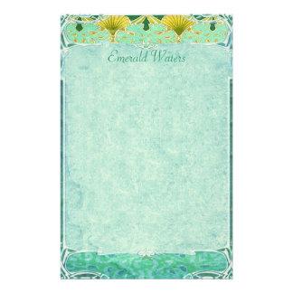Aguas esmeralda - efectos de escritorio de Nouveau Papelería De Diseño