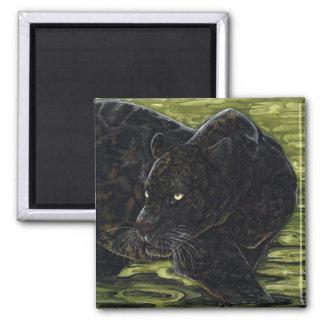 Aguas oscuras - pantera negra imán cuadrado