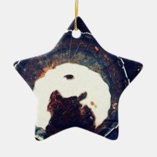 Aguas perturbadas adorno navideño de cerámica en forma de estrella