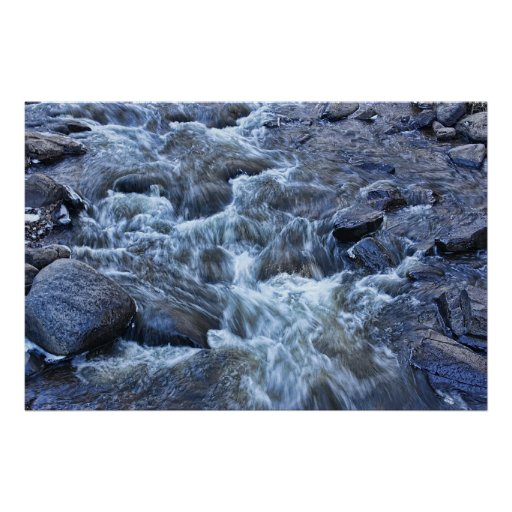 Aguas rocosas impresiones