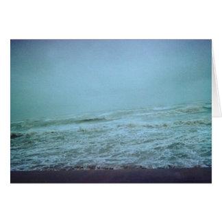 aguas tempestuosas tarjeta de felicitación