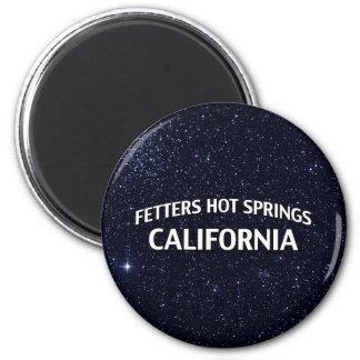 Aguas termales California de los grilletes Imán Redondo 5 Cm