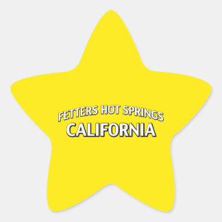 Aguas termales California de los grilletes Colcomanias Forma De Estrella