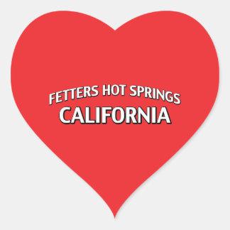 Aguas termales California de los grilletes Pegatina En Forma De Corazón