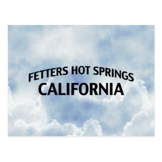 Aguas termales California de los grilletes Tarjeta Postal