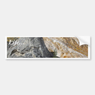 Aguas termales de Yellowstone Etiqueta De Parachoque