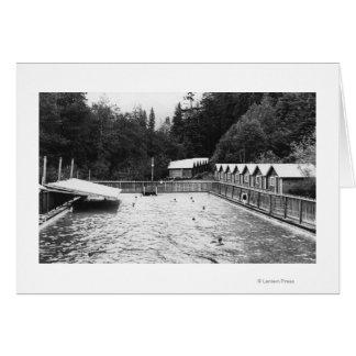 Aguas termales del solenoide Duc, fotografía de la Tarjeta De Felicitación
