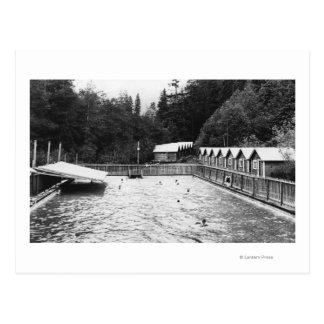Aguas termales del solenoide Duc, fotografía de la Tarjeta Postal