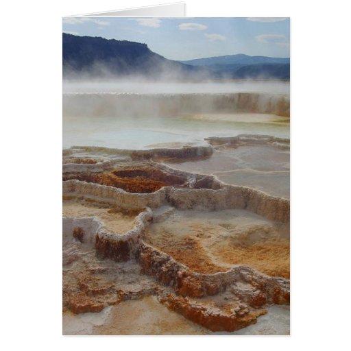 Aguas termales en Yellowstone Felicitaciones