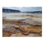 Aguas termales en Yellowstone Tarjeta Postal