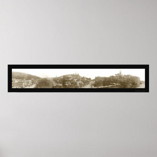 Aguas termales, foto 1910 de AR Póster
