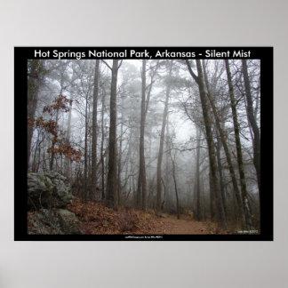 Aguas termales parque nacional, AR - niebla silenc Posters