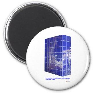 Aguas termales, ropa de los regalos de la reflexió imán redondo 5 cm