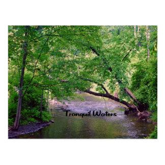 Aguas tranquilas de la cita inspirada postal