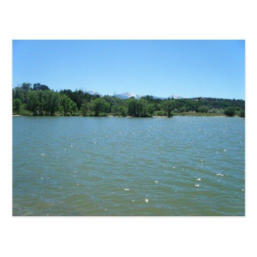 Aguas ventosas del lago Frantz, Colorado Tarjetas Postales