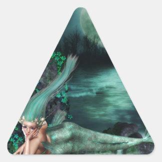 Aguas verdes pegatinas trianguladas personalizadas