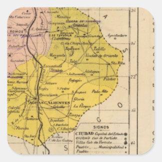 Aguascalientes, Mexico 2 Square Sticker