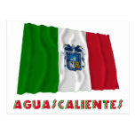 Aguascalientes que agita la bandera oficiosa postal