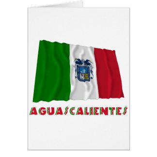 Aguascalientes Waving Unofficial Flag Card