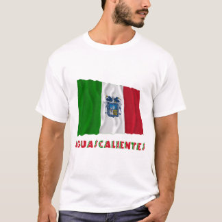 Aguascalientes Waving Unofficial Flag T-Shirt