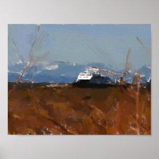 Aguazo costero del transbordador impresiones