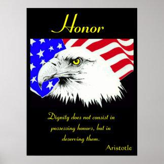 Águila 15 de los posters del honor