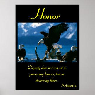 Águila 17 de los posters del honor