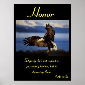 Águila 18 de los posters del honor