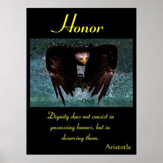 Águila 20 de los posters del honor