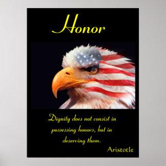 Águila 6 de los posters del honor